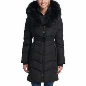 Calvin Klein Ladies' Parka Jacket Belted Puffer